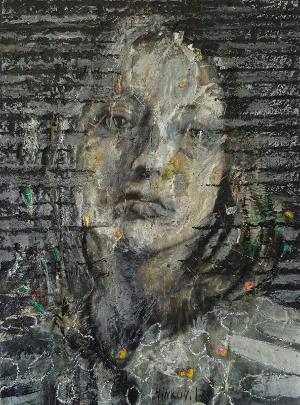 Oil, acrylic, pigment on canvas, 40x30cm, 2017