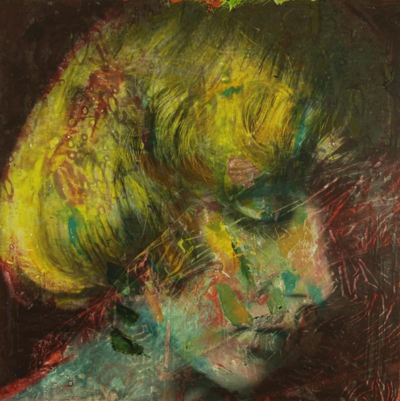 Oil, acrylic, pigment on canvas, 90x90cm, 2016