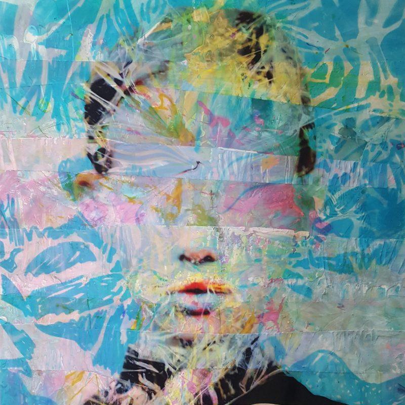 Mixed technique on canvas (oil, acrylic, pigment), 90x90 cmMixed technique on canvas (oil, acrylic, pigment), 90x90 cm