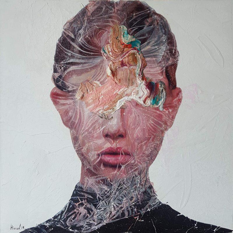 Mixed technique on canvas (oil, acrylic, pigment), 60x60 cm