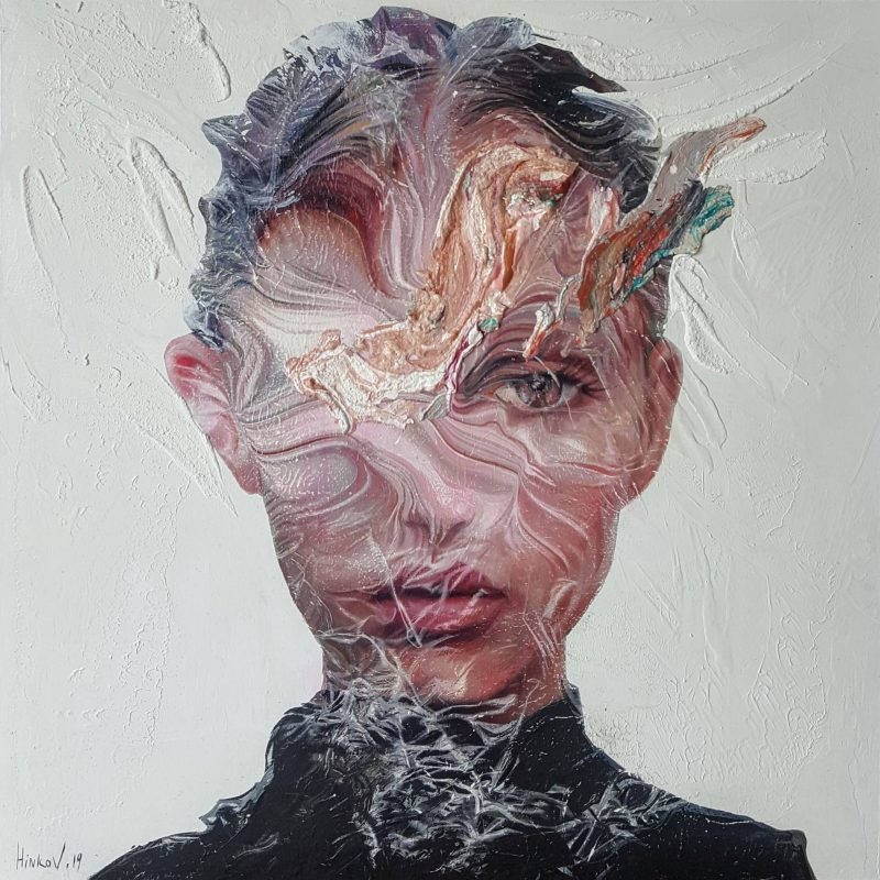 Mixed technique on canvas (oil, acrylic, pigment), 60x60 cm. AVAILABLE