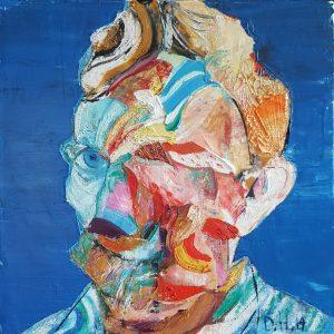 Self portrait as Van Gogh. Oil on canvas, 30x30 cm, 2019