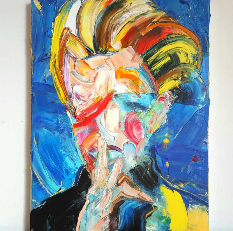 David Bowie I, oil on canvas, 40x30cm, 2020