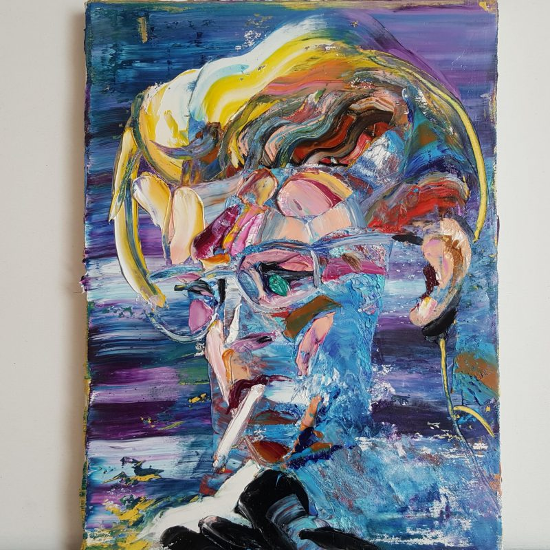 David Bowie II, oil on canvas, 40x30cm, 2020