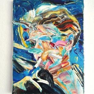 David Bowie - oil on canvas, 40x30cm, 2020