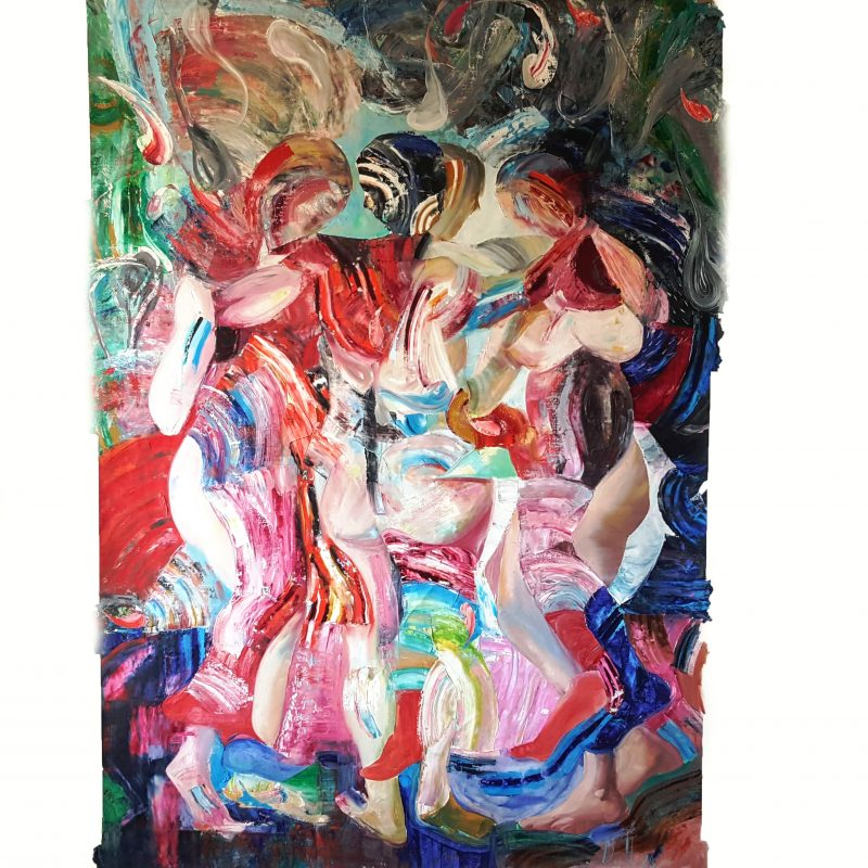 he Three Graces after Rubens III, oil on canvas, 200x150cm, 2020